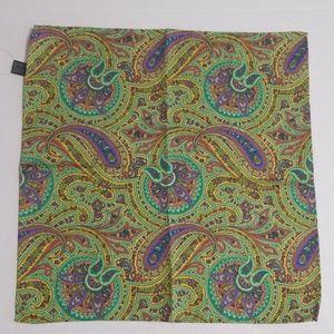 Ted Baker Men Silk Green/Prp Parsley Pocket Square